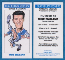 Blackburn Rovers Mike England Wales 14 (BB)